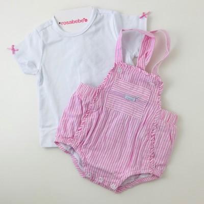 Peto ROSA y Camiseta algodón