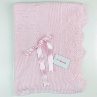 Toquilla perle rosa