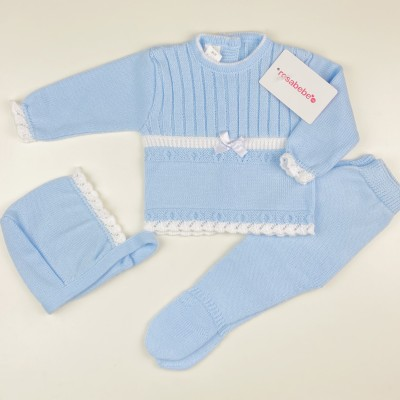 Conjunto lana lacito celeste