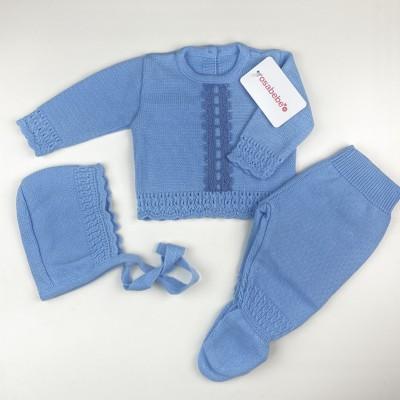 Conjunto invierno bodoques azul